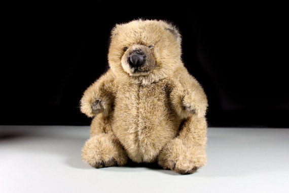 Pot Belly Bear, Fancy Zoo, Teddy Bear, Stuffed Animal, Brown, Fluffy, Soft, 9 Inches, Nursery Decor