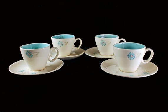 Cups and Saucers Boutonniere Taylor Smith and Taylor Ever Yours  Set of 4