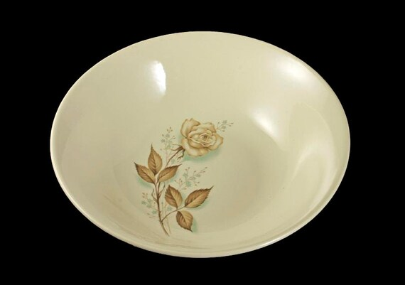 Mount Clemens, Vegetable Bowl, Brown Rose, Hard to Find Pattern, Ovenproof