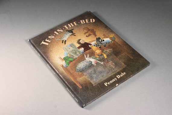 1988 Children's Hardcover Book, Ten In The Bed, Penny Dale, Juvenile Fiction, Illustrated, Bedtime Story, Picture Book