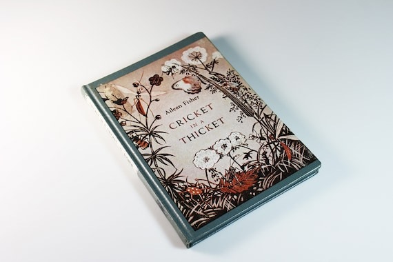 Children's Hardcover Book, Cricket in a Thicket, Aileen Fisher, Poetry, Illustrated, First Edition, Collectible