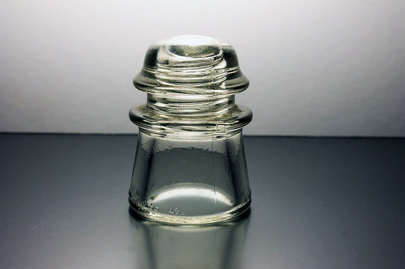 Armstrong Insulator Clear Glass Collectible No 2