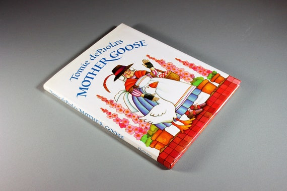 1985 Children's Hardcover Book, Tomie dePalola's Mother Goose, First Edition, Signed, Nursery Rhymes, Color Illustrations