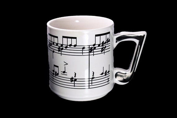 1984 Sheet Music Mug, Chadwick Miller, Musical Notes, Coffee Mug, Novelty Mug, Music Lover's Mug, 12 Ounce