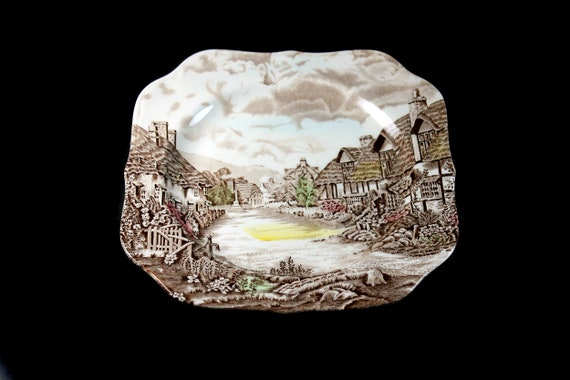 Salad Plate, Johnson Brothers, Olde English, Countryside, Square, Made In England, Collectible