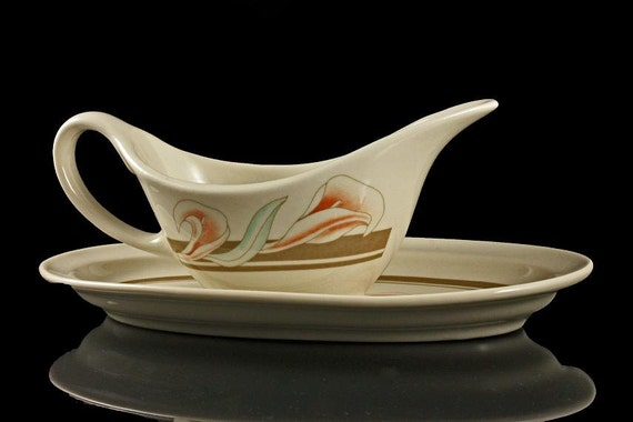 Syracuse China, Gravy Boat with Underplate, SY733