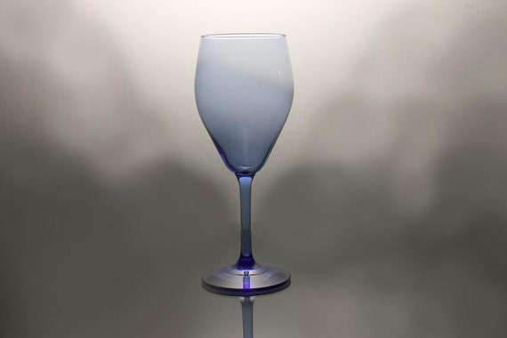 Wine Glass, Cobalt Blue, Old Morgantown Glassware