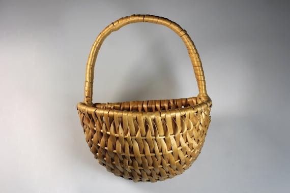 Handwoven Wall Pocket Basket, Plant Basket, Flower Basket