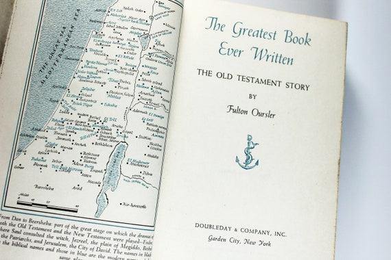 1951 Hardcover Book, The Greatest Book Ever Written, Old Testament, First Edition, Literature, Bible Stories, History, Religion