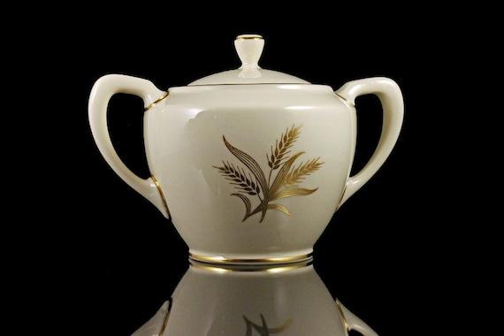 Sugar Bowl, Lenox, Harvest Pattern, Hard to Find, Fine China