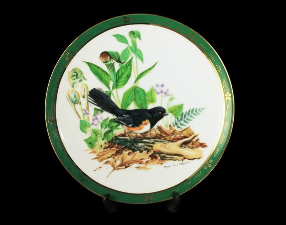 1990 Collectible Plate, The Danbury Mint, Towhee, Bird Plate, Limited Edition, Decorative Plate, Wall Decor, New In Box