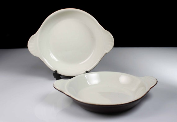 Au Gratin Bowls, Syscoware, Brown, Individual Casserole, Dinnerware, Set of 2, Serving