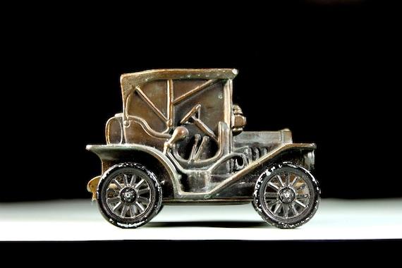 Car Coin Bank, Banthrico Inc, 1974 Collectible, 1908 Buick, Die Cast Metal, Piggy Bank