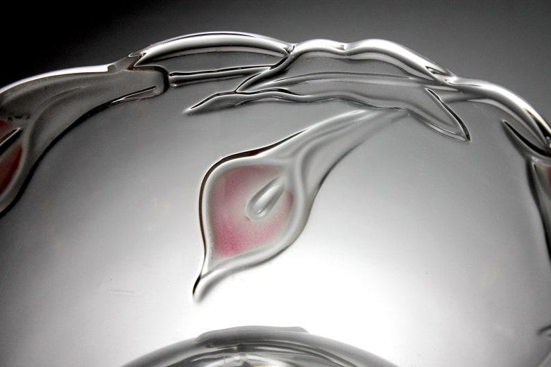 Giftware Mikasa Mayfair Bowl Centerpiece Pink Calla Lily Discontinued