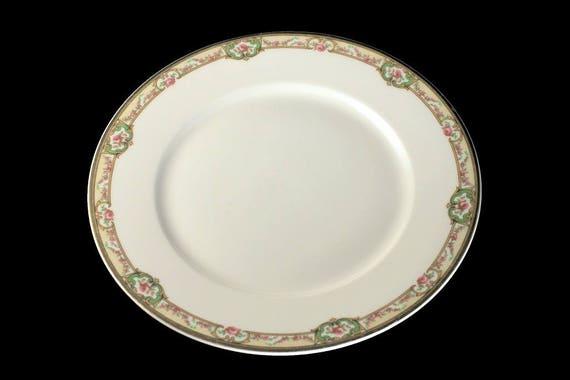 Antique Dinner Plate, Theodore Haviland, Limoges France, The Belfort, Hard To Find, Rose Cameo, Gold Trimmed