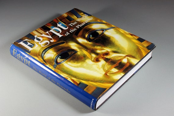 1998 Large Hardcover Book, Egypt, The World of the Pharaohs, Reference, Coffee Table Book, History, Illustrated, Egyptology, Archaeology