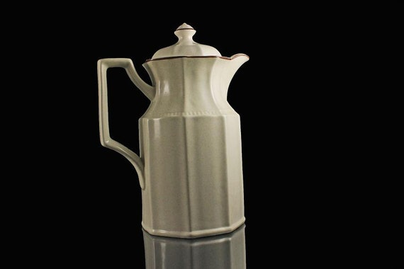 Coffee Pot, Teapot, Kensington Staffordshire, Canterbury, Ironstone