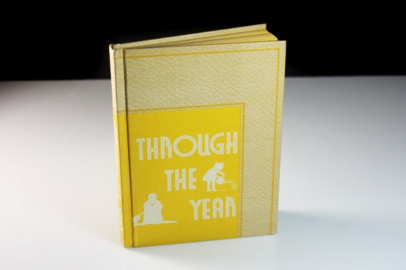 Children's Hardcover Book, Through The Year, Science Book, Children's Text Book, Educational Book, Learning Tool, First Edition