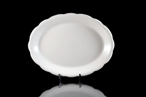 Oval Platter, Buffalo China, Restaurant Ware, 12 Inch, White, Restaurant Grade China