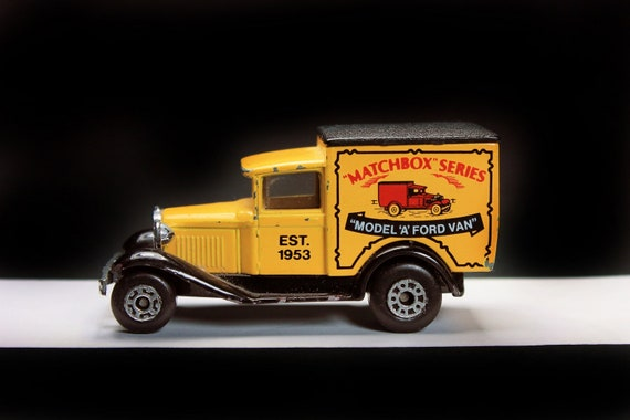 Matchbox, 1979 Model A Ford Van, Yellow, Matchbox Series, Die Cast Metal, Collectible, Toy Car