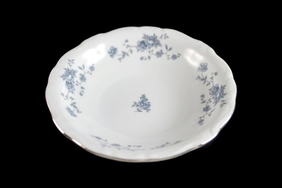 Fruit Bowl, Johann Haviland, Blue Garland, Thailand Traditions, Floral Pattern, Fine China, Discontinued