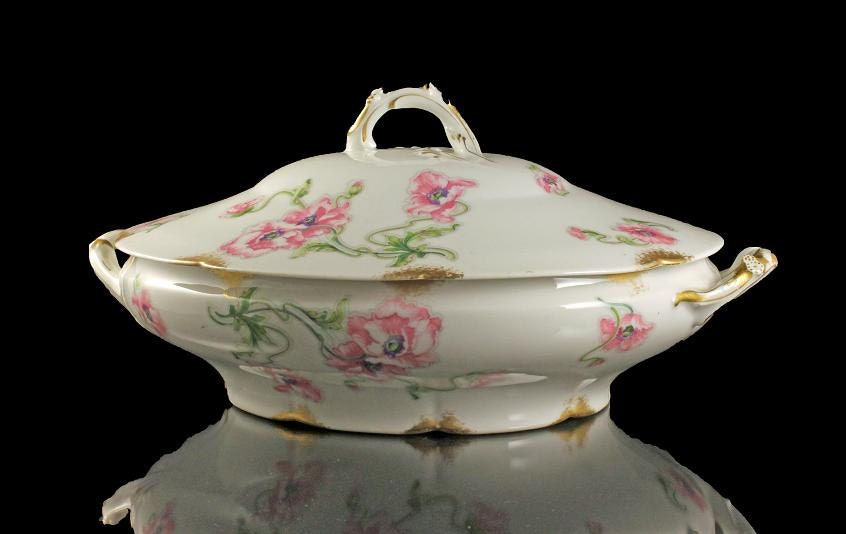 Antique Covered Vegetable Bowl, Theodore Haviland, Limoges, France ...