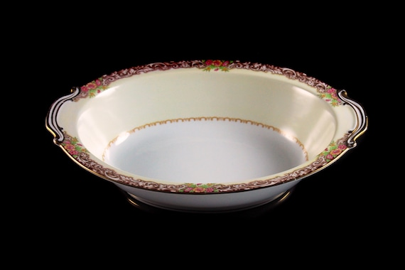 Vegetable Bowl, Noritake, Harmony, Occupied Japan, Morimura Backstamp, Oval, Made in Japan, Serving Bowl, Gold Trim
