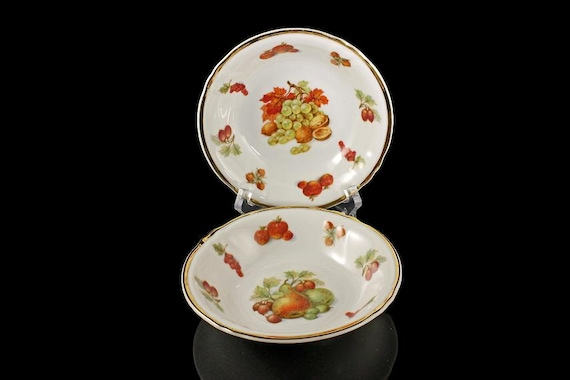 Winterling Bavaria Bowls, Fruit Bowls, Dessert Bowls, Royal Heidelberg, Set of 2