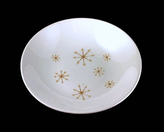 Vegetable Bowl, Royal China (USA), Star Glow, Gold Star Design, White and Gold, Round Bowl