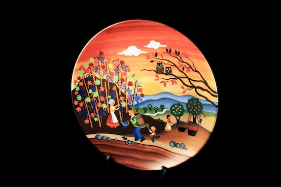 Decorative Plate, Autumn Harvest, Reutter Porzellan, West Germany, Wall Decor, Display Plate, Collectible Plate