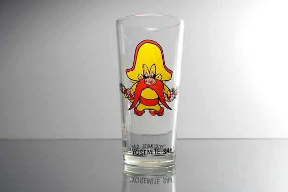 1973 Collectible Tumbler, Yosemite Sam, Pepsi Collector Series, 16 Ounce, Drinking Glass