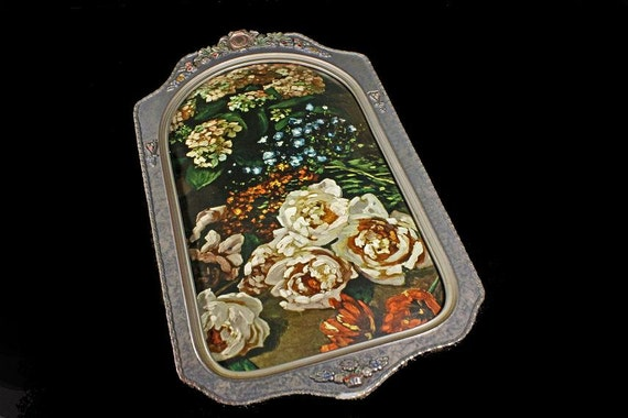 Chicago Portrait Co., Bubble Glass, Framed Print, Spring Flowers, Monet