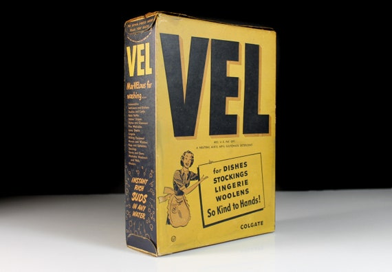 Vel Soap Box, Collectible, Kitchen or Laundry Decor, Empty