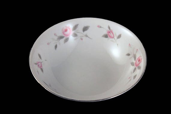 Soup Bowl, Nasco, Plymouth Rose, Floral Pattern, Pink Rose, Porcelain, Fine China, Japan