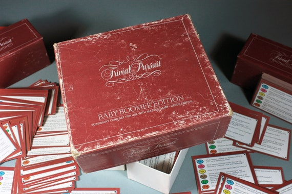 Trivial Pursuit, Baby Boomer Edition, Subsidiary Game Cards, Parker Brothers, Board Game, Trivia Game, Party Game