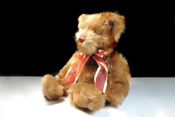 Teddy Bear, Kids of America Corp, Stuffed Animal, Brown, Fluffy, Soft, 14 Inches, Nursery Decor