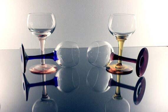 Cordial Glasses, Dessert Wine Glasses, Cocktail Glasses, Liqueur Glasses, Set of 4, Barware