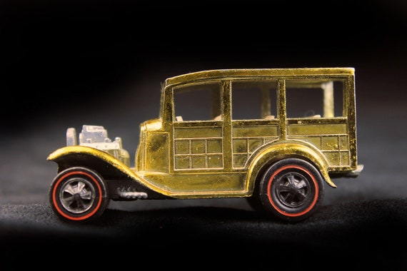 Hot Wheels, 1968 Hot Wheels Redlines, Classic 1931 Ford, Gold, Hard to Find Color,  Die Cast Metal, Collectible Toy Car, Toy Car