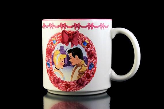 1994 Disney Mug, Cinderella, Disney Christmas Mug, Coffee Mug, Tea Mug, Hot Chocolate Mug, 10 Ounce, Collectible Mug, Children's Gift Idea