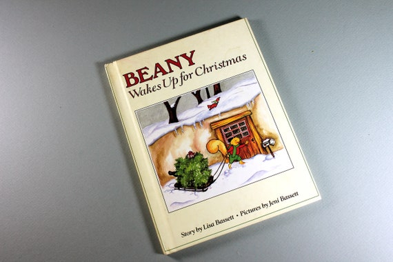 1988 Children's Hardcover Book, Beany Wakes Up For Christmas, Lisa Bassett, Fiction, Weekly Reader Book, Collectible, Illustrated