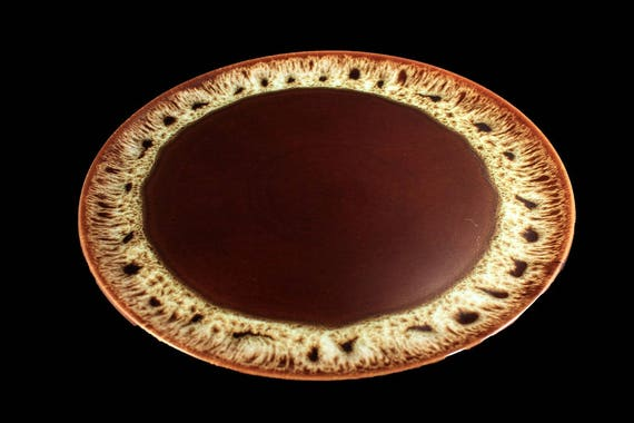 Canonsburg Chop Plate, Brown Drip, Round Platter, Large 13-Inch, Serving Platter
