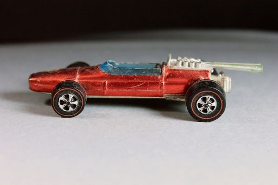 Hot Wheels, 1969 Hot Wheels Redlines, Brabham Repco F1, Red, Die Cast Metal, Collectible, Toy Car