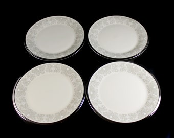 Bread and Butter Plates, Lenox, Snow Lily, Discontinued, Cream Color, Set of 4, Fine China, Like New