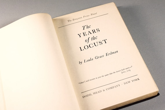 Hardcover Book, The Years of the Locust, Literature, Fiction, Novel, 1947