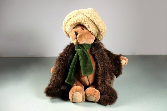 Bear Stuffed Animal, Boyds Bearware, Aunt Bessie Skidoo, Artisan Fabric Series, Plush, Retired, Original Tags, 10 Inch, Collectible