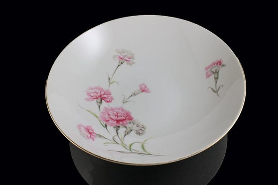 Vegetable Bowl Royal Court China Carnation Pattern
