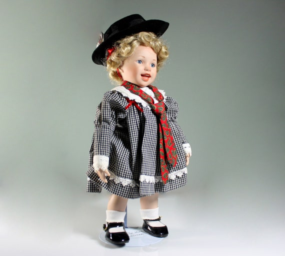 Ashton Drake Porcelain Doll, Peanut, My Heart Belongs to Daddy, Stand Included, Display Doll, 14 Inch, Collectible