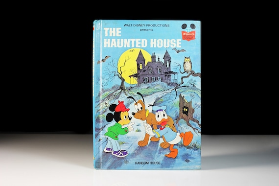 Children's Hardcover Book, The Haunted House, Disney Presents, Collectible, Halloween, Illustrated, Mystery, Suspense