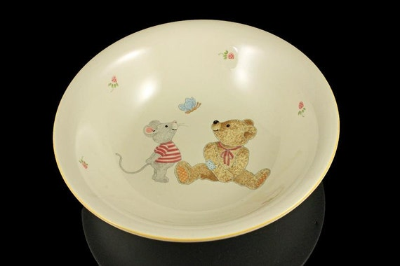 Cereal Bowl, Soup Bowl, Mikasa, Teddy Pattern