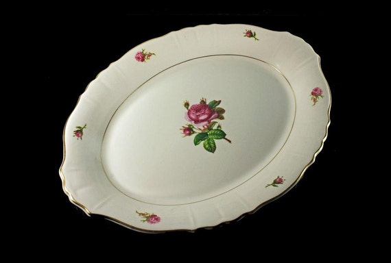 Syracuse China Platter, Federal Shape, Victoria